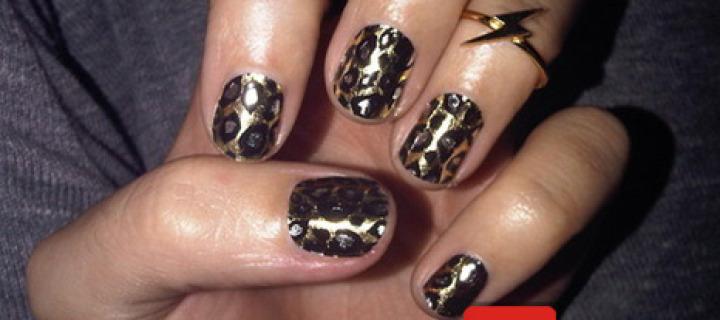 Ногти гепардовой раскраски