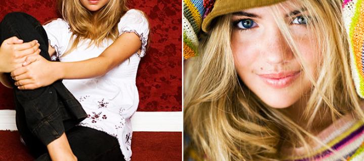 Фотографии 15-летней модели Кейт Аптон