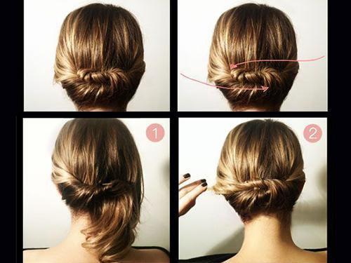 Прическа на тонкие средние волосы
